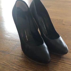 Black leather Giuseppe Zanotti pumps